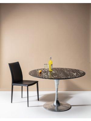 Kare Design Milano Eetkamerstoel - Set van 2 - Zwart Leer
