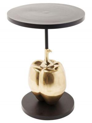 Kare Design Pumpkin Bijzettafel - Ø55x76cm - Goud - Zwart Metaal