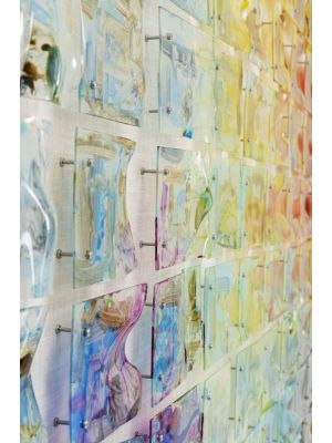 Kare Design Rainbow Fields Wanddecoratie - 150 x 7 x 100 cm - Multikleur