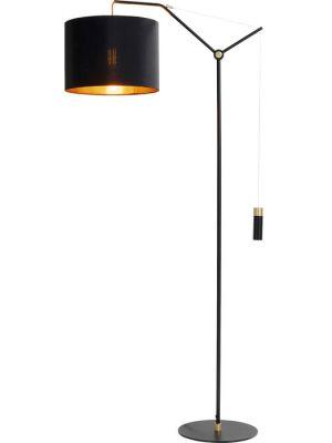 Kare Design Salotto Vloerlamp - Hoogte 158 cm - Zwart