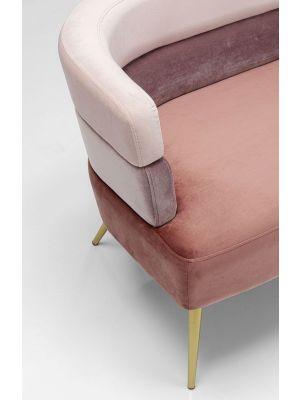 Kare Design Sandwich Bank - B125xD64xH64 - Velvet Roze - Gouden Poten