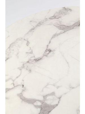 Kare Design Schickeria Ronde Eettafel - D110 x H72 cm - Wit Marmerlook
