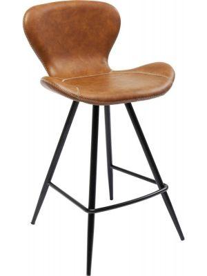 Kare Design Rusty Barkruk - Set van 2 - Zithoogte 65 cm - Bruin Kunstleer - Zwart Metalen Poten