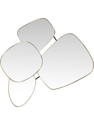 Kare Design Shapes Spiegel - B100 x D10 x H130 cm - Goud/Messing kleurig