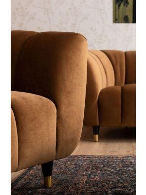 Kare Design Sofa Spectra Bank Velvet 3-zits - B245 x D96 x H71 cm - Geel Fluweel