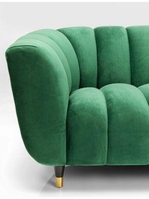 Kare Design Sofa Spectra Bank Velvet 3-zits - B245 x D96 x H71 cm - Groen Fluweel