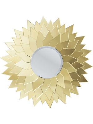Kare Design Sunflower Ronde Spiegel - Diameter 120 cm - Goudkleurig