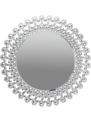 Kare Design Tear Drops Spiegel - Rond - Ø90xD2 cm - Zilver