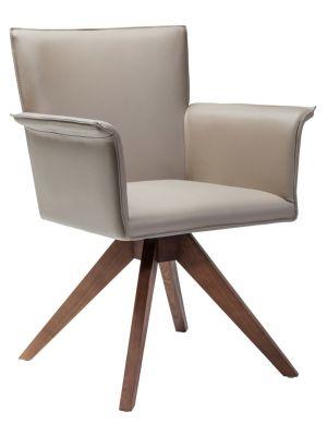 Kare Design Stoel Foxy - Armleuningen - Kunstleer Beige