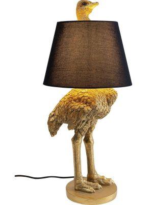 Kare Design Struisvogel Vloerlamp en Tafellamp - Hoogte 66,5 cm - Goudkleurig