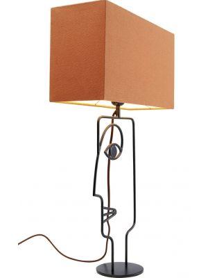 Kare Design Face Wire Orange Tafellamp 1-Lichts - B15 x D40 x H66 cm