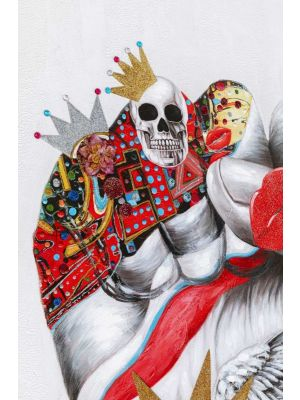 Kare Design Touched Fight For - 90 x 3,5 x 200 cm - Canvas Multikleur