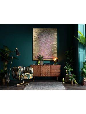 Kare Design Touched Flower Boat Gold Pink - 120 x 3,5 x 160 cm - Canvas Multikleur