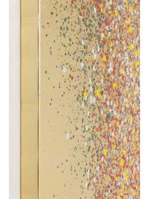 Kare Design Touched Flower Boat Gold Red - 120 x 3,5 x 160 cm - Canvas Multikleur