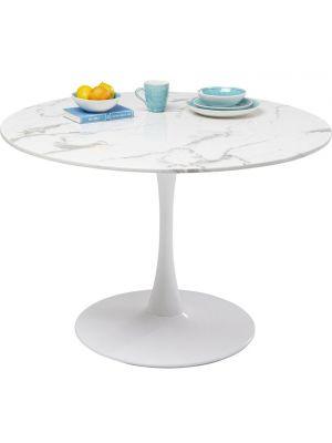 Kare Design Veneto Ronde Eettafel - D110 x H73 cm - Wit Marmer