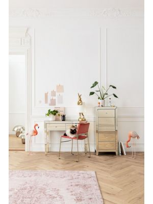 Kare Design Kelim Ornament Vloerkleed - L300 x B200 cm - Poeder roze