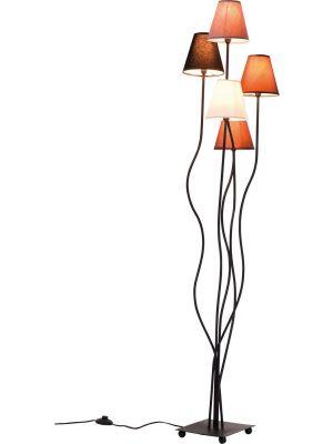 Kare Design Vloerlamp Flexible Mocca Cinque 5-Lichts H163 cm - Bruin