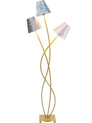 Kare Design Flexible Velvet Brass Tre 3-Lichts - Fluweel