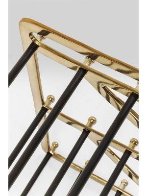Kare Design Walk Big Schoenenrek - B84 x D34 x H55 cm - Messing en Zwart Metaal