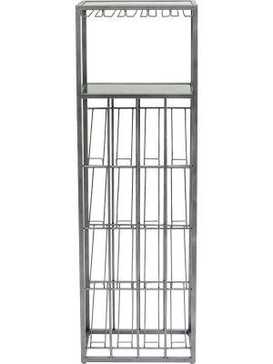 Kare Design Vinoteca Wijnrek - B50 x D30 x H60 cm - Groen Marmer en Metaal