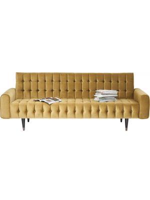 Kare Design Milchbar Honey 3-Zits Velvet Bank - Honing Geel Fluweel