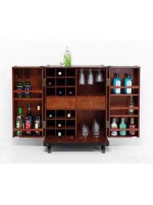 Kare Design Cabinet Globetrotter Medium Barkast - B66 x D44 x H83 cm - Zwart