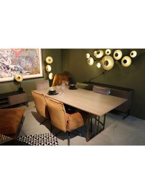 Kare Design Chelsea Velvet Stoel - Set van 2 - Grijs Fluweel