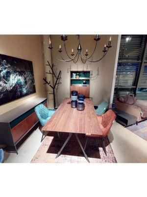 Kare Design Harry Velvet Stoel - Set van 2 - Blauw Fluweel