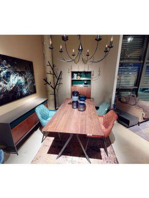 Kare Design Harry Velvet Stoel - Set van 2 - Roestbruin Fluweel