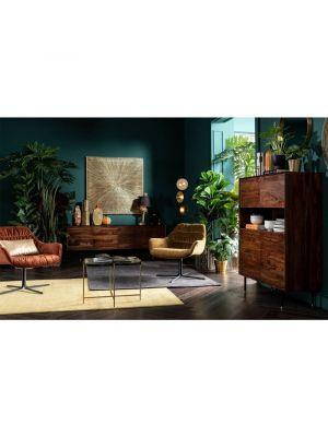 Kare Design Ice Salontafel - B63 x D46 x H46 cm - Glas/Staal