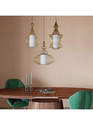 Kare Design Swing Iron Hanglamp 3-Lichts - Goud