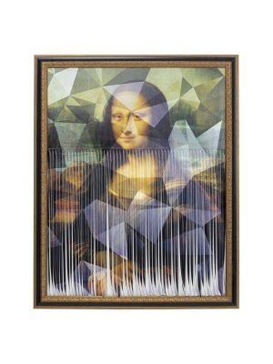 Kare Design Mademoiselle Lisa Canvas Fotolijst - L163 x B130 cm - Goud