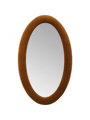Kare Design Spiegel Ovaal - H150 x B90cm - Fluweel Bruin