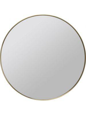 Kare Design Spiegel Ronde Curve - Ø80cm - Messing