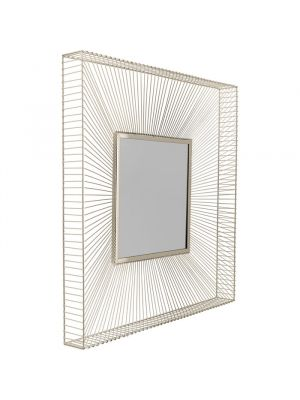 Kare Design Wandspiegel Dimension Champagne - 91 x 91cm