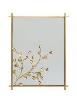 Kare Design Wandspiegel Leafline - B66 x H85cm - Goud