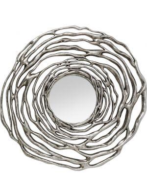 Kare Design Wandspiegel Twiggy - Ø121cm - Zilver