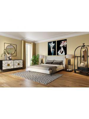 Kare Design Wandspiegel Stanford Frame - Ø90cm - Mat Zwart