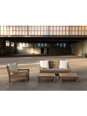Exotan Kawang 3-persoons Loungeset – Teakhout – Taupe Kussens