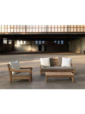 Exotan Kawang Koffietafel – Outdoor - Teakhout – L125 x D70 x H30 cm