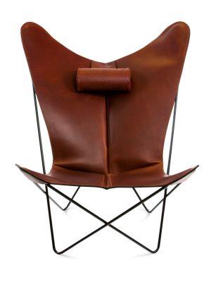OxDenmarq Fauteuil KS Chair - RVS Onderstel - Leer - Cognac