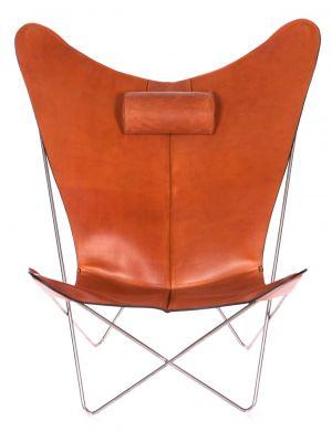 OxDenmarq Fauteuil KS Chair - RVS Onderstel - Leer - Hazelnoot