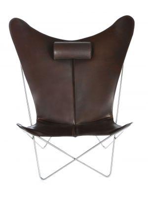 OxDenmarq Fauteuil KS Chair - RVS Onderstel - Leer - Mocca