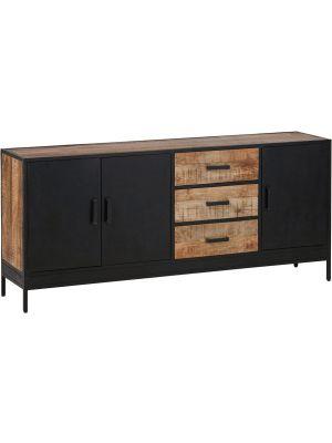 24Designs Fabrique Dressoir - B180 x D42 x H80 cm - Mangohout - Metaal