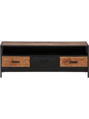 24Designs Fabrique TV-meubel - B150 x D42 x H55 cm - Mangohout - Metaal
