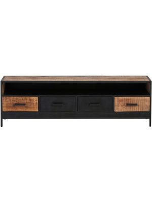 24Designs Fabrique TV-meubel - B180 x D42 x H55 cm - Mangohout - Metaal