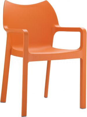 8 Tuinstoelen Diva Stapelbaar - Oranje
