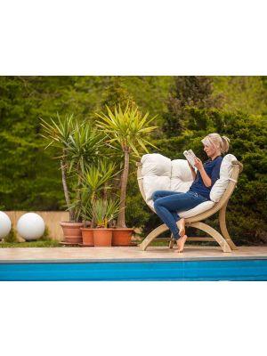 Amazonas Lounge Fauteuil Siena Uno Naturel Kussens - Vurenhout