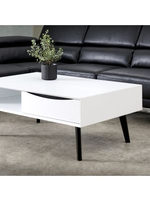 24Designs Lyon Salontafel - B75 x D120 x H45 cm - MDF - Wit