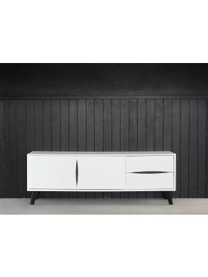 24Designs Lyon TV-meubel - B160 x D40 x H55 cm - MDF - Wit